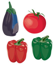Capsicum, Tomato and Eggplant