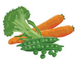 Broccoli, Peas and Carrots