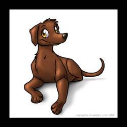 cute dog by kaykaykit