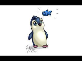 Blue Penguin by kaykaykit