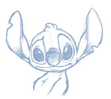 Alien Stitch Drawing Stitch da Alien Sketch by
