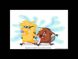 Art Trade - Angry Beavers by kaykaykit