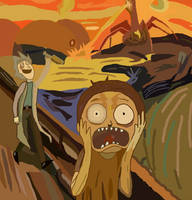The Scream (Morty edition ) by Legendary-Brown
