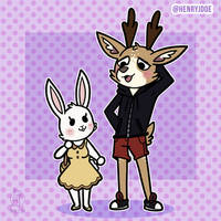 Aggretsuko style for AndyTheDeer