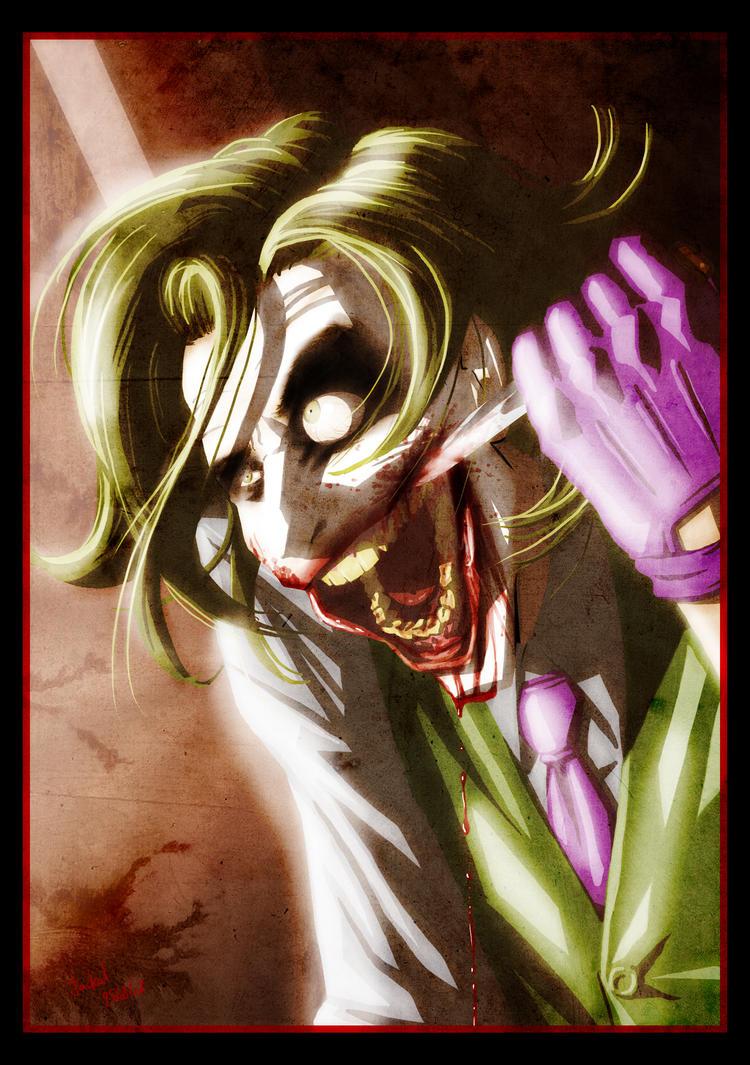 scary joker by lucius ferguson on deviantart