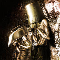 iron and bucket head by Lucius-Ferguson