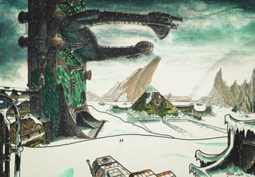 Alien movie project: Kadath landscape