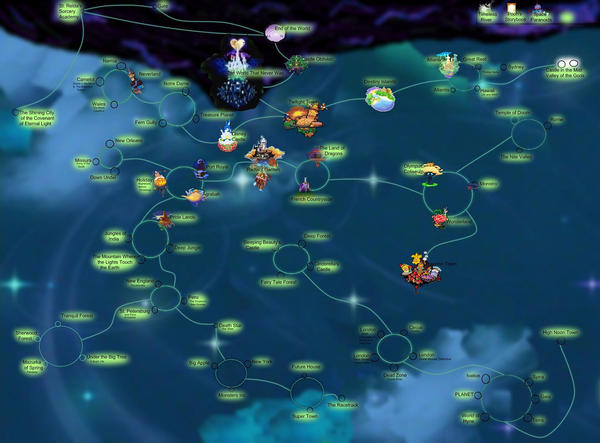 kingdom hearts worlds map by ps2105 on deviantart