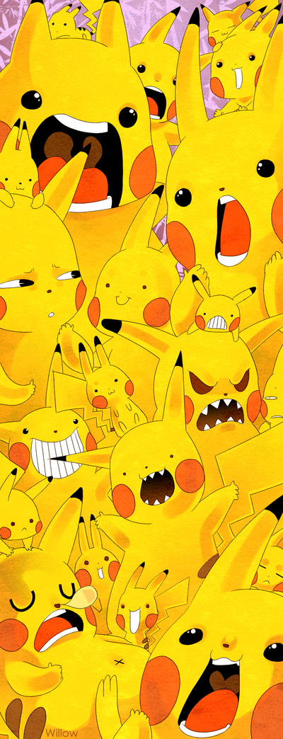 Full Of Pikachu by Willow-San