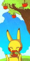 Pikachu under a tree