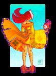 A girl with a yellow kimono