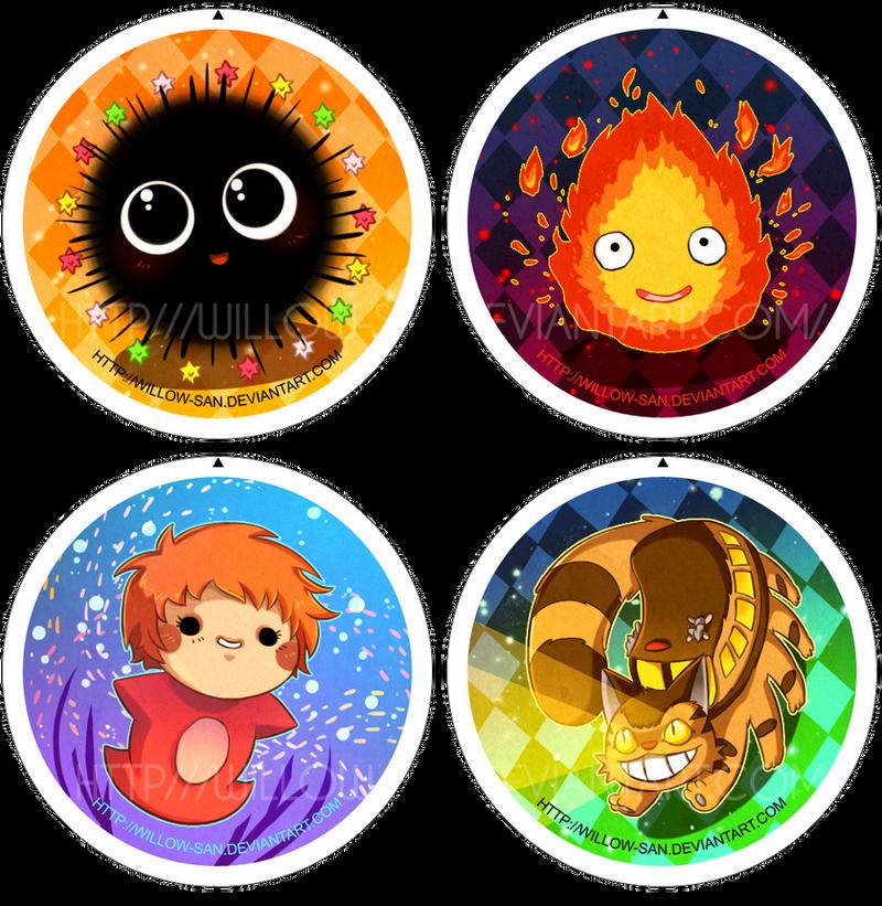 Miyasaki buttons by Willow-San