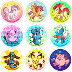 MLP - Pokemon buttons
