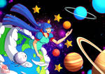 The Earth, the Moon and the Planets by Willow-San