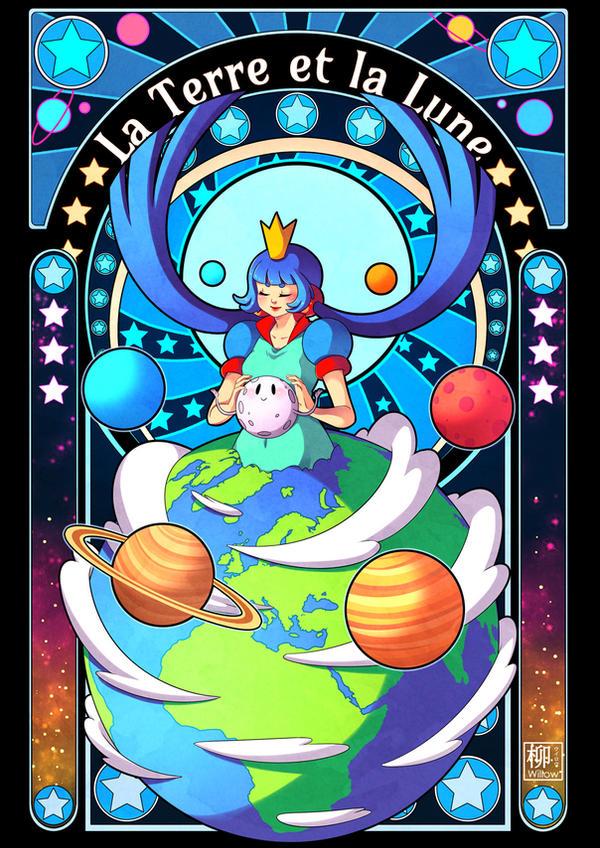 La Terre et la Lune by Willow-San