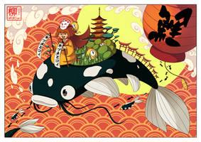 Kistune et les Carpes Koi 2 by Willow-San