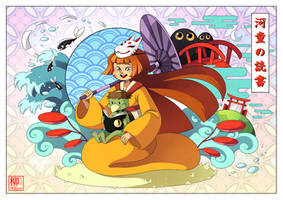 Kitsune and Kappa by Willow-San