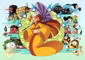 Yokai artbook cover by Willow-San