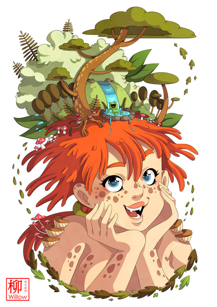 A girl from the woods by Willow-San