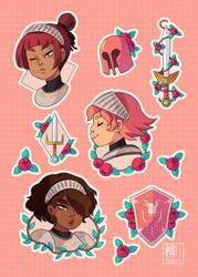 Ladies kights stickers