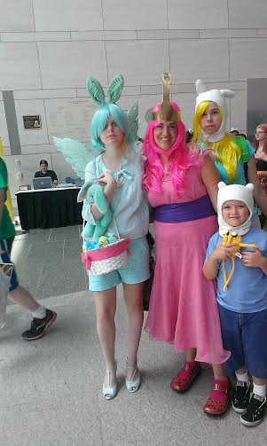 Human!Flying Mint Bunny with Adventure Time cast by southpony98