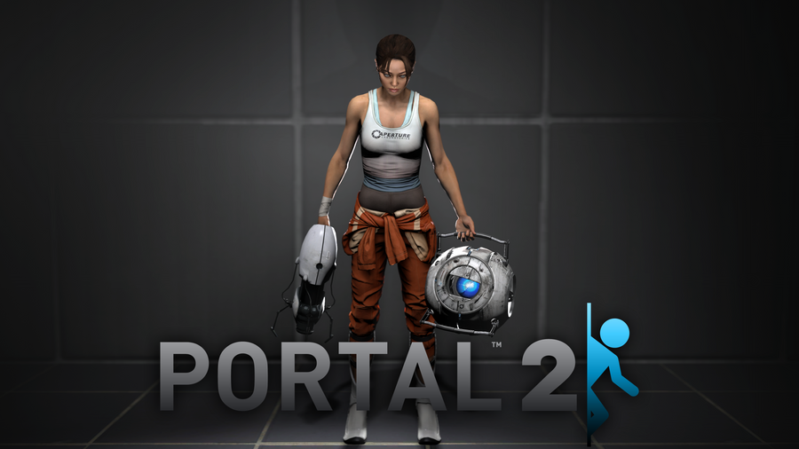 Chell portal 2 wallpaper by deepfry3 on deviantart for 3 portals