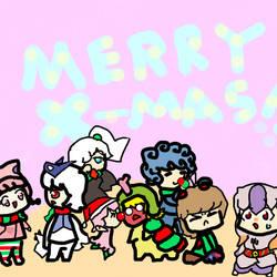Pokemon Gijinka Christmas by OkumaRage