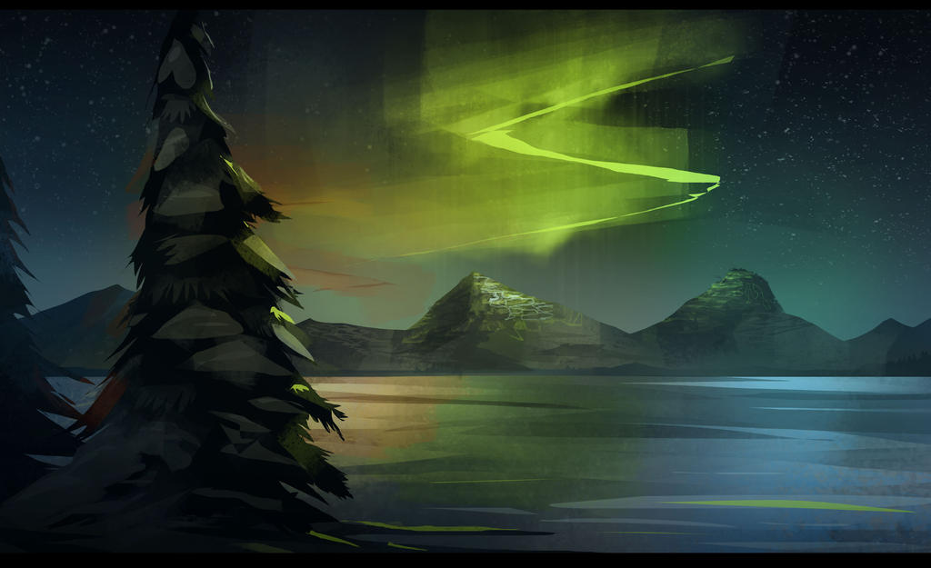 Northern Lights By Pencil Guy