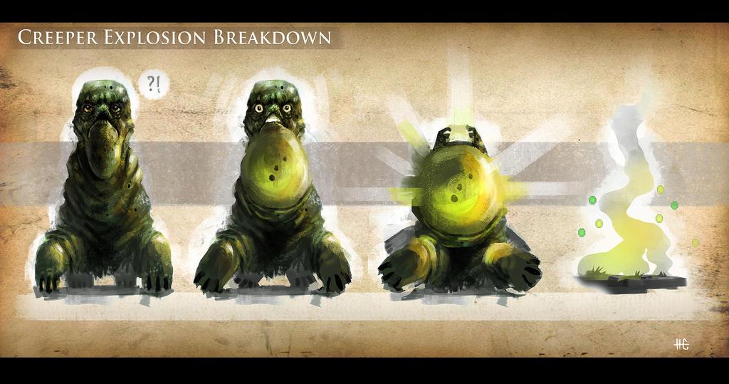 Realistic Creeper Explosion Breakdown By Pencil Guy On Deviantart