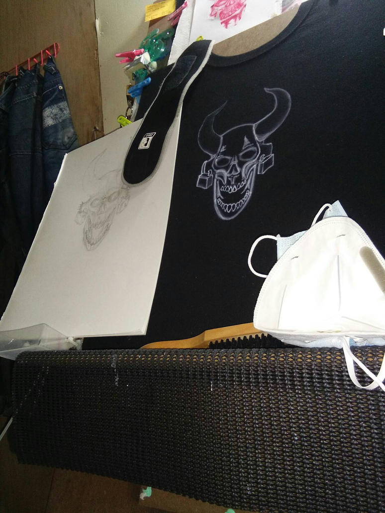 Black T-shirt Airbrushing. by GeeDonV