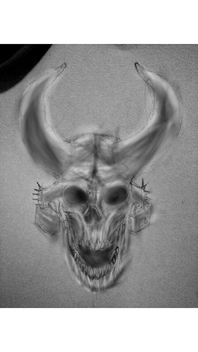 horn skull  by GeeDonV