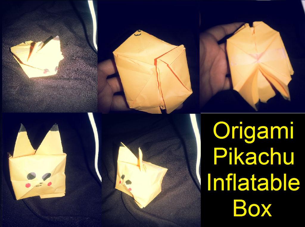 Origami Pikachu Inflatable Box By Candi 404