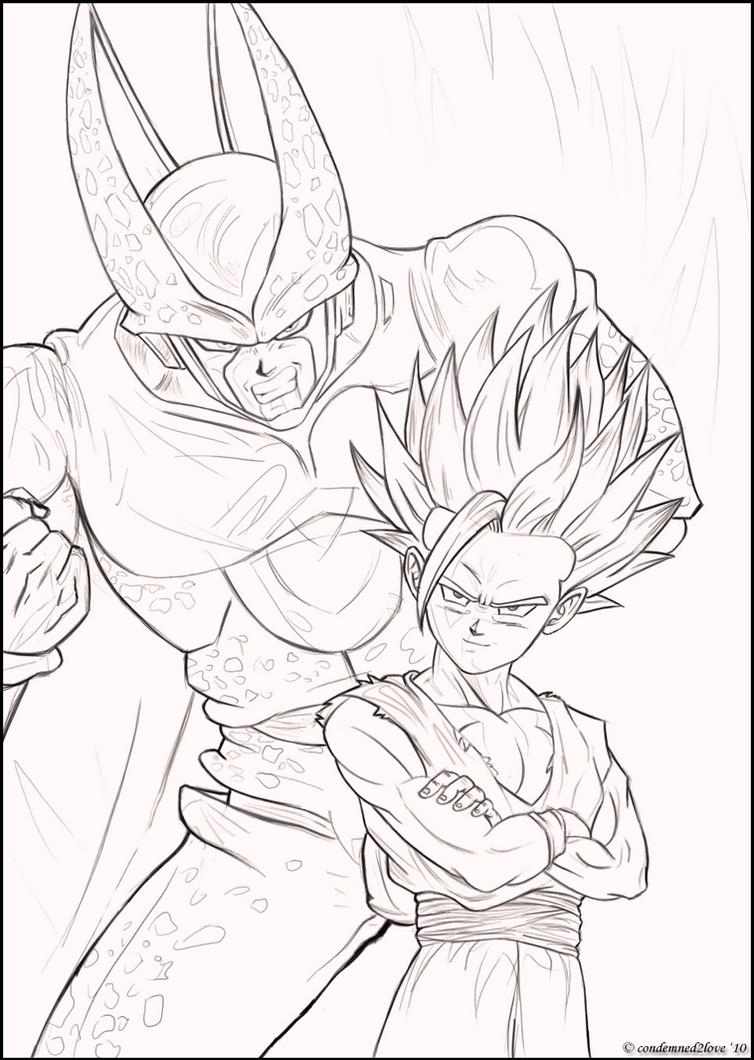 nice gohan ssj2 coloring pages inspiration resume ideas