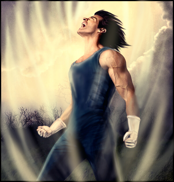 Realistic Vegeta by condemned2love