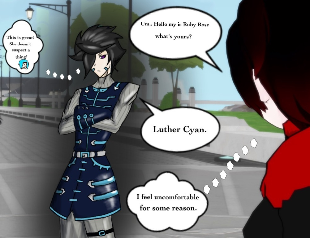 RWBY OC Luther Cyan A K A  Sai Crescent! by JettErebus on