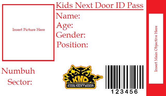 Blank kids next door id pass by numbahlaughing247 on deviantart blank kids next door id pass by numbahlaughing247 maxwellsz