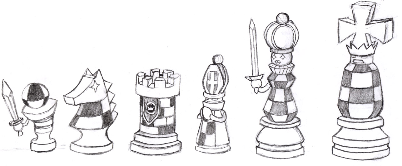 King Chess Piece Drawing