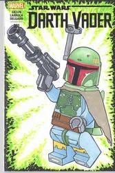 Lego Boba Fett sketch cover