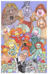Fraggle Rock art as commision
