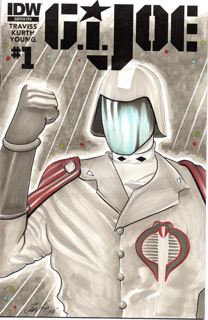 Cobra Commander G.I. Joe Sketch cover by rodneyfyke