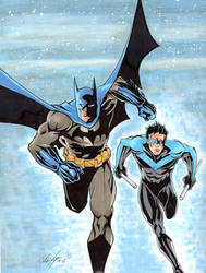 Batman and Robin Commision after Jim Lee