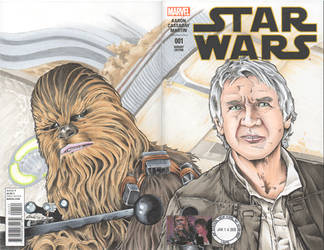 Han and Chewy Double Cover Sketch Cover