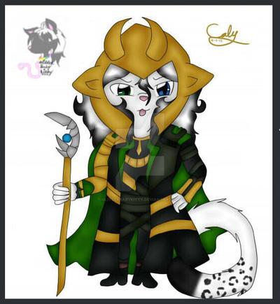 Glitter loki cosplay by GlitterbabyKitty