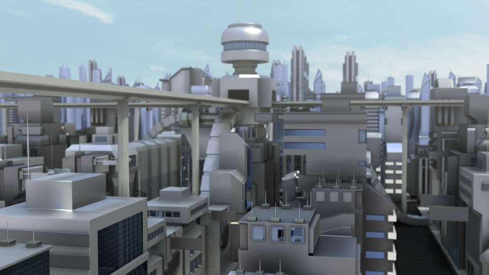 3D Futuristic Town by Ubukata