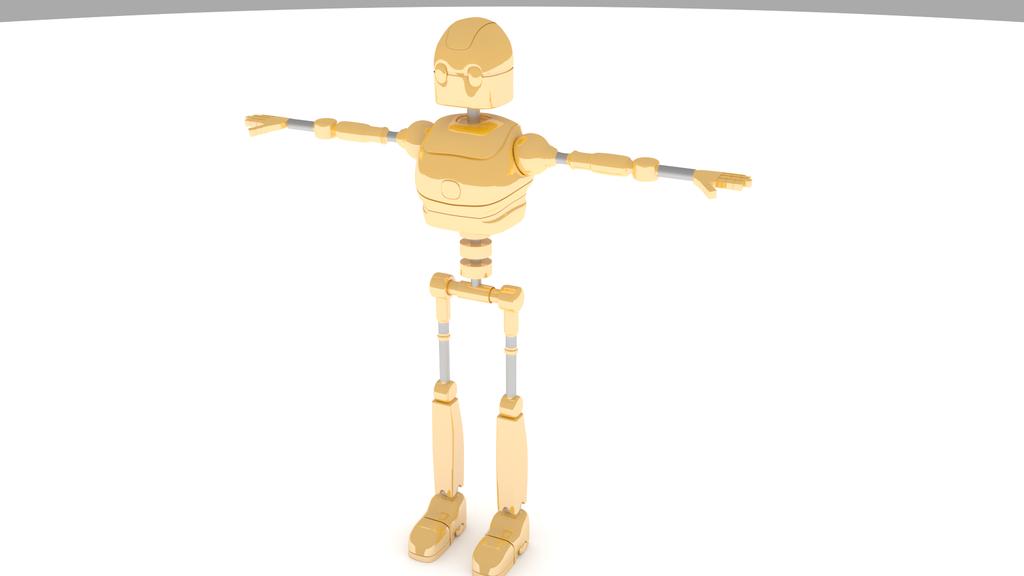 Gold Robot by Ubukata