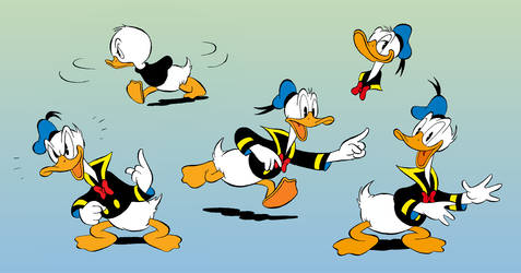 Colored Duck doodles