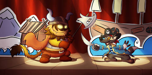 Viking vs pirate (collab)