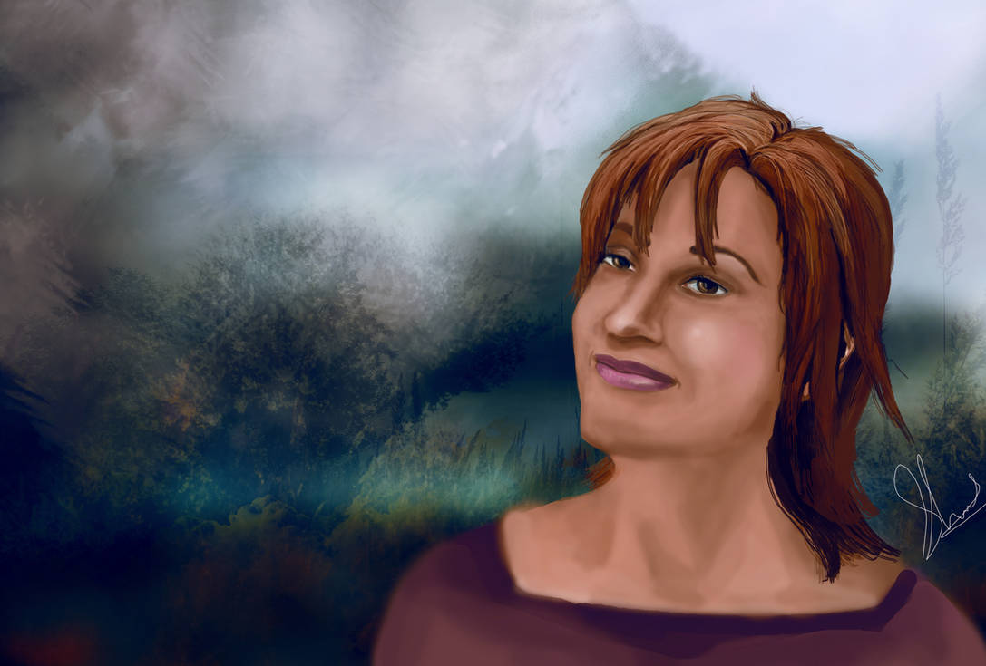 Teyla from SGA (painting)