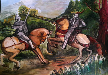 The Knights Battle