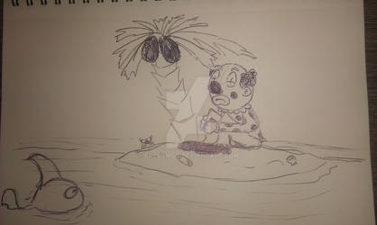 Cartoon clown fish island by ercasmot